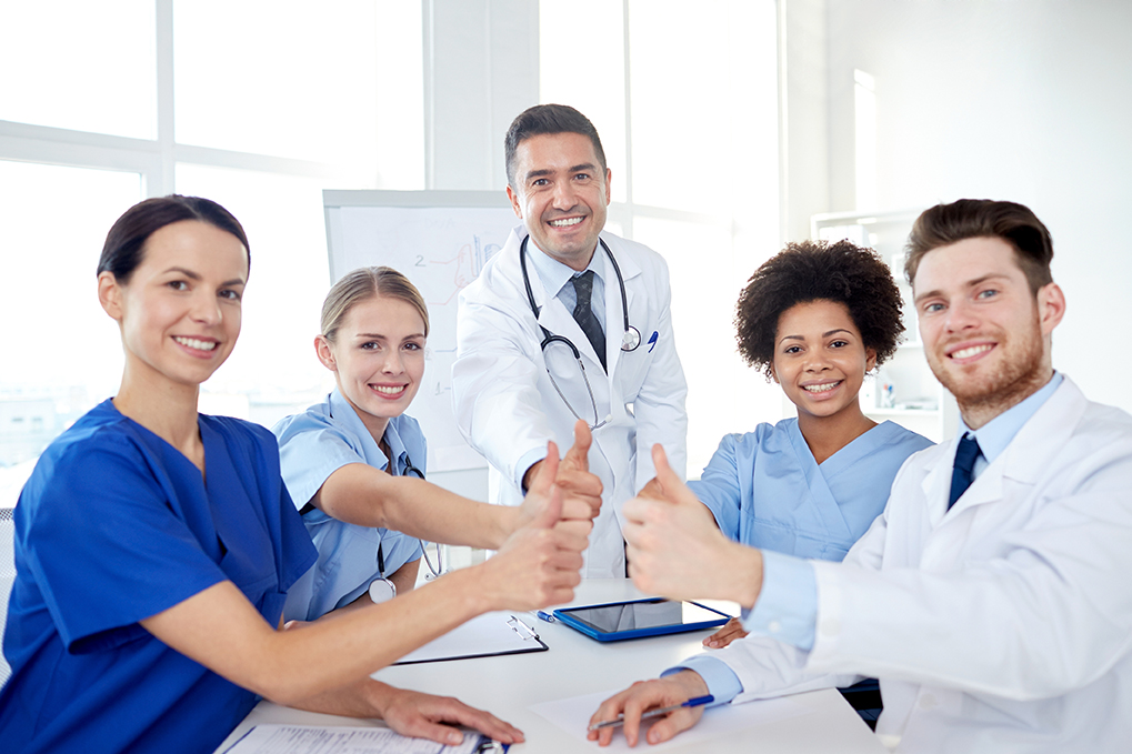 group of doctors studying endocannabinoid system